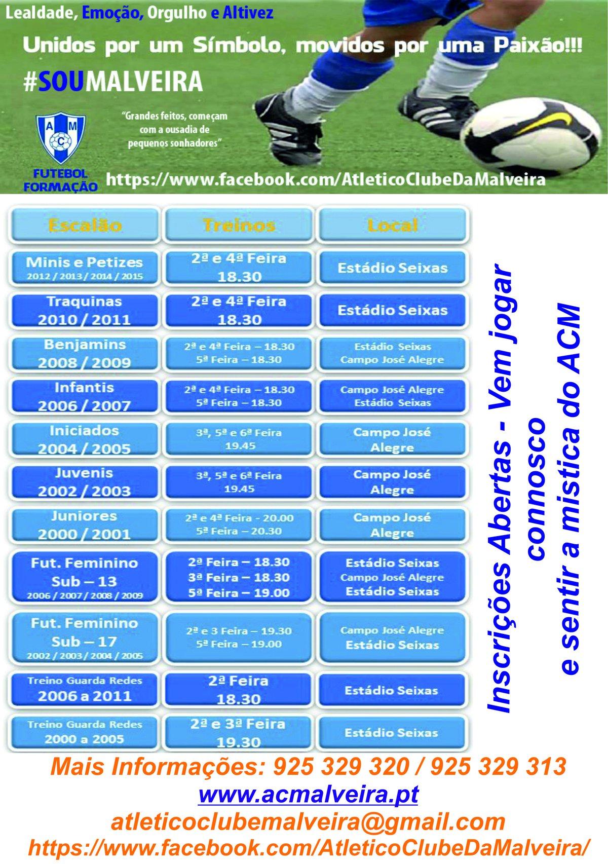 Futebol de Formação - Inscrições Abertas