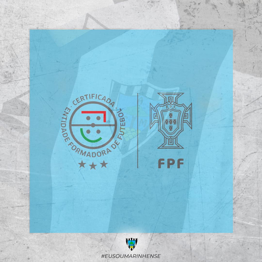 O Atlético Clube Marinhense recebeu o Estatuto de ENTIDADE FORMADORA CERTIFICADA 3 ESTRELAS