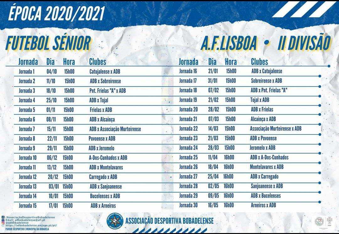 Seniores - Calendário
