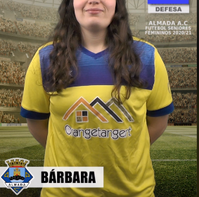 Futebol | Seniores Femininos | Bárbara representará o Almada AC na época 2020/21