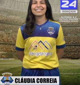 Futebol | Seniores Femininos | Cláudia Correia representará o Almada AC na época 2020/21