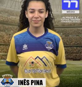 Futebol | Seniores Femininos | Inês Pina continuará a representar o Almada AC em 2020/21