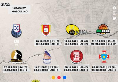 Calendário Época 2021/22 - Basquetebol