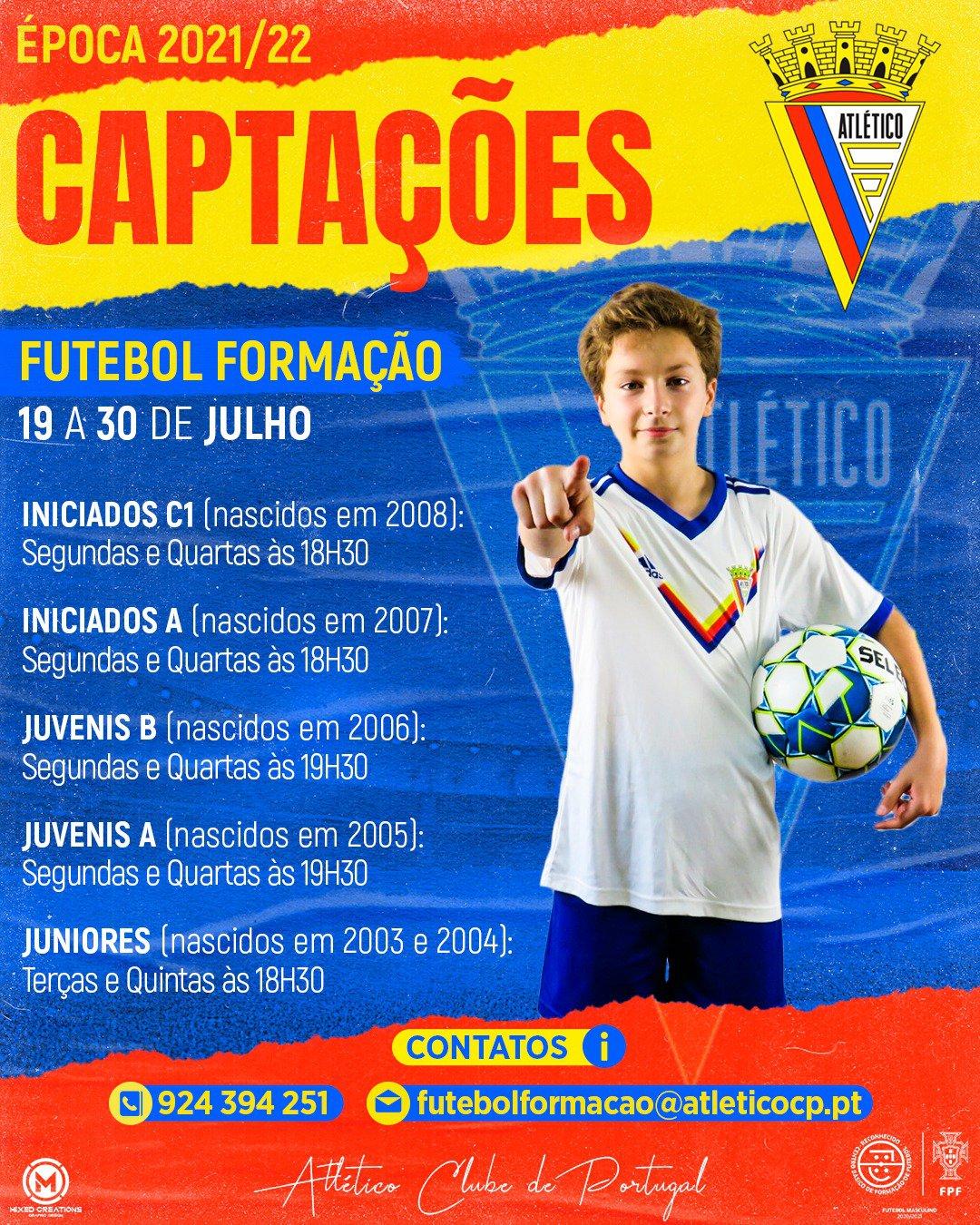 Futebol Formação - Captações