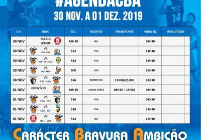 Jogos 30 Nov. e 01 Dez 2019