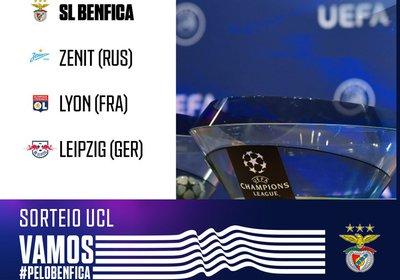 Calendário da fase de Grupos da Champions