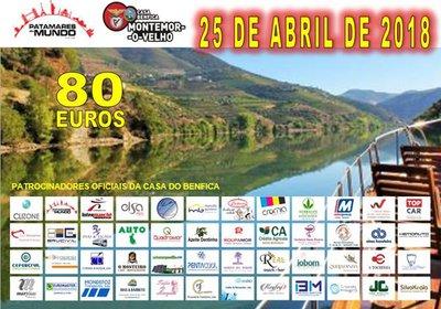 Benfiquistas e amigos, confraternizam na subida do Douro
