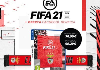 Jogo PS4 FIFA 21+ Cachecol - Edição Benfica