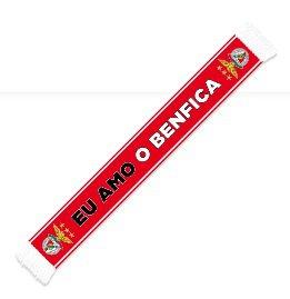 Cachecol Vermelho Eu Amo o Benfica