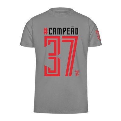 T-SHIRT CINZA CAMPEÃO 37 PARA HOMEM