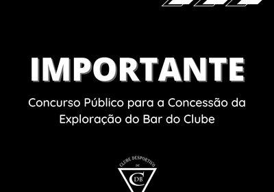 Concurso Público para a Concessão da Exploração do Bar do Clube