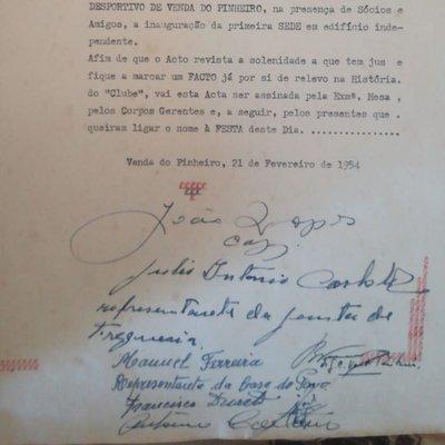 Acta Inauguração 1ªSede