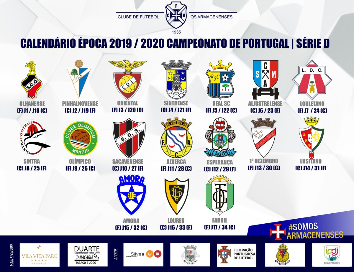 Calendario F.Calendario Do Campeonato Nacional De Seniores 2019 20