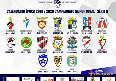 Calendário do Campeonato Nacional de Seniores 2019/20 - SERIE D