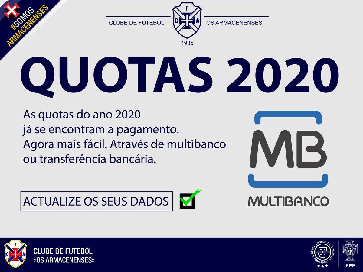Quotas do ano 2020 a pagamento.