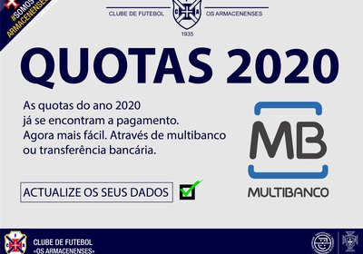 Quotas do ano 2020 a pagamento.