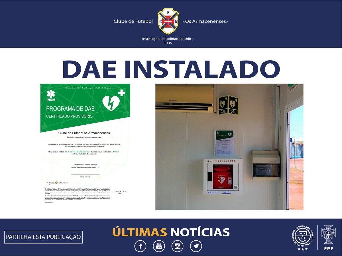 DAE instalado no Estádio Municipal