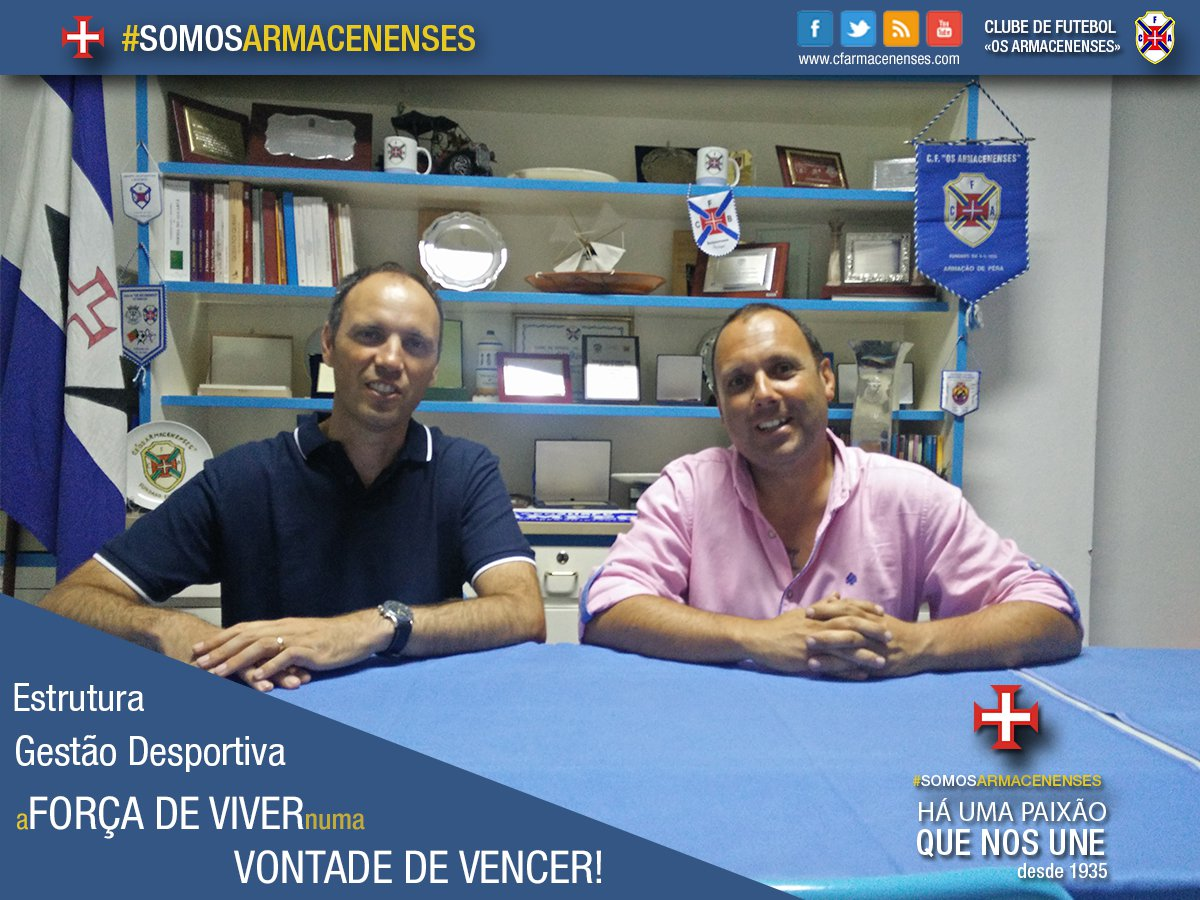 Clube de Futebol «Os Armacenenses» cria departamento de gestão Desportiva.