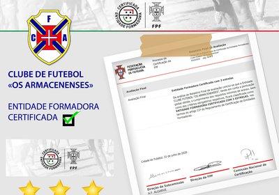 ENTIDADE FORMADORA CERTIFICADA 2020/2021