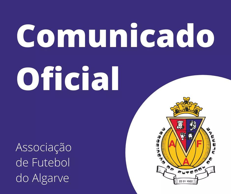Comunicação da Associação de Futebol do Algarve