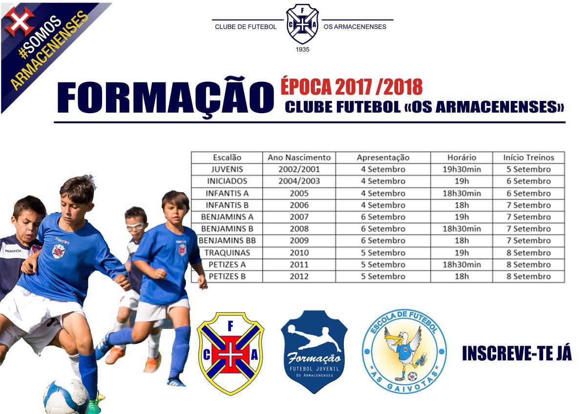 Escolas de Formação - Época 2017 /2018
