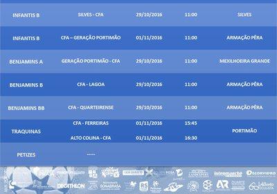 "CLUBE DE FUTEBOL ""OS ARMACENENSES //  MAPA DE JOGOS //  SEMANA 29/10/2016 A 01/11/2016"