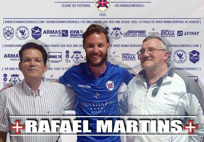 Rafael Martins confirma permanência por mais uma temporada.
