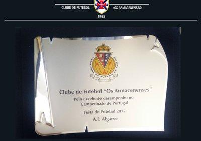 Clube de Futebol «Os Armacenenses» Reconhecido Pela AFA