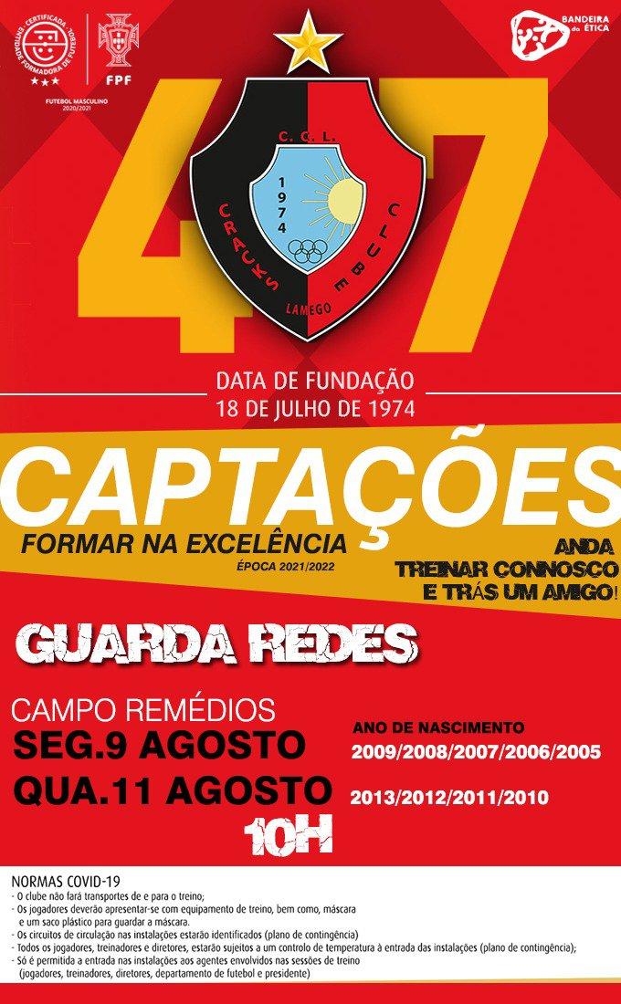 Captação Guarda Redes 2005 a 2013.