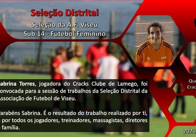 Cracks Clube de Lamego, representado na Selecção Distrital Feminina SUB 14
