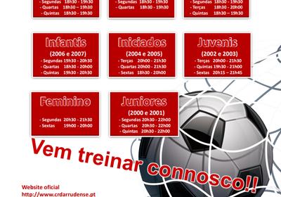 Treinos de Captação - Futebol - Época 2018/2019
