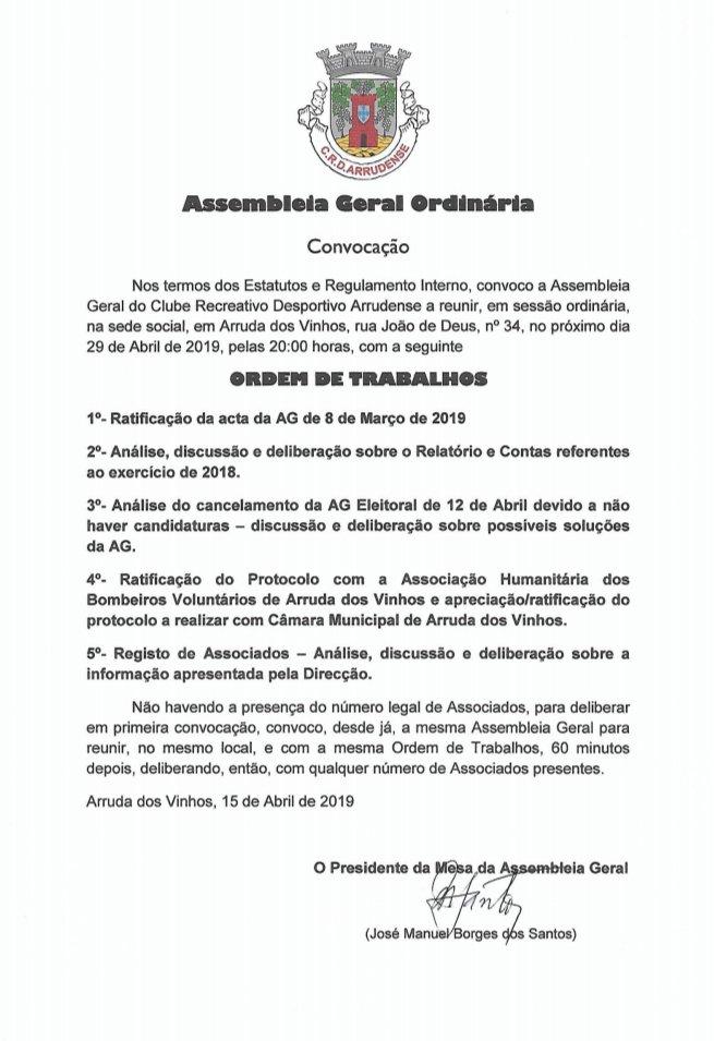 Assembleia Geral - Convocatória