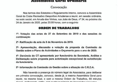 Assembleia Geral - 24 de Janeiro