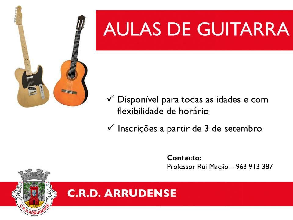 Aulas de Guitarra - venha experimentar!