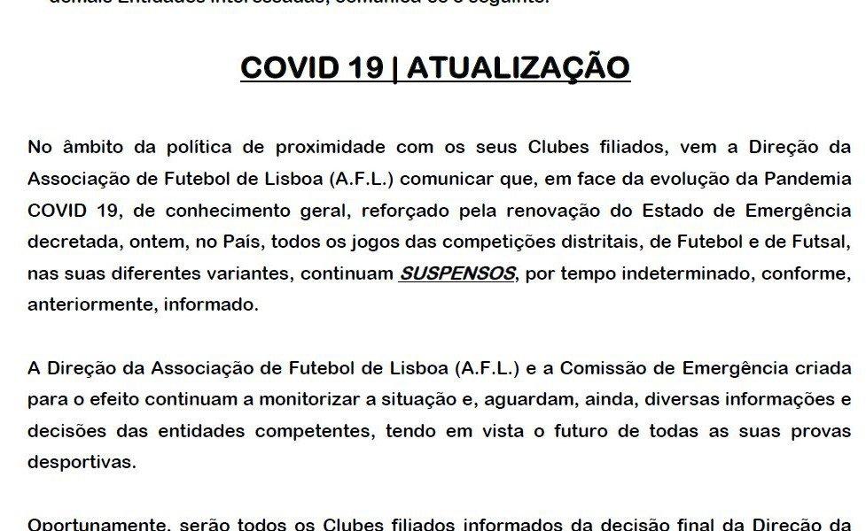 COVID-19 | ACTUALIZAÇÃO (AFL)