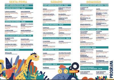 Festival Curt´Arruda - Programa