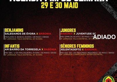 AGENDA FIM DE SEMANA 28 A 30 DE MAIO - FUTSAL
