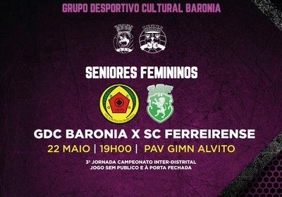 Jogo - GDC Baronia x SC Ferreirense