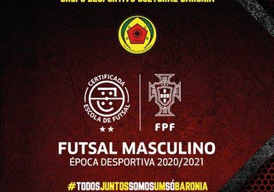 Baronia reconquista o estatuto de Escola de Futsal 2 estrelas