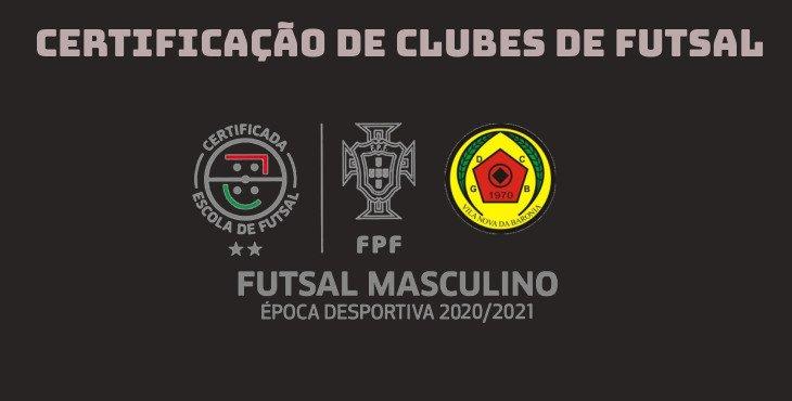 Futsal Formação certificado com 2 estrelas
