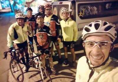 Equipa de Cicloturismo a caminho de Sagres