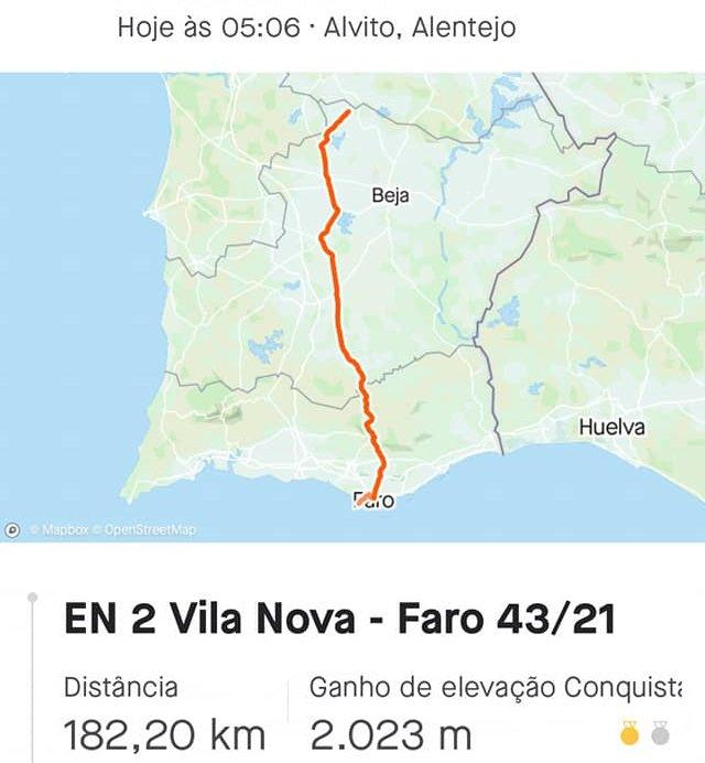 Cicloturismo  leva atletas de Vila Nova a Faro