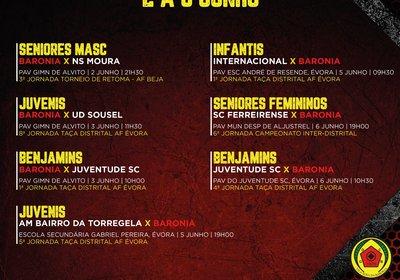 AGENDA FERIADO E FIM DE SEMANA 02 A 06 DE JUNHO - FUTSAL