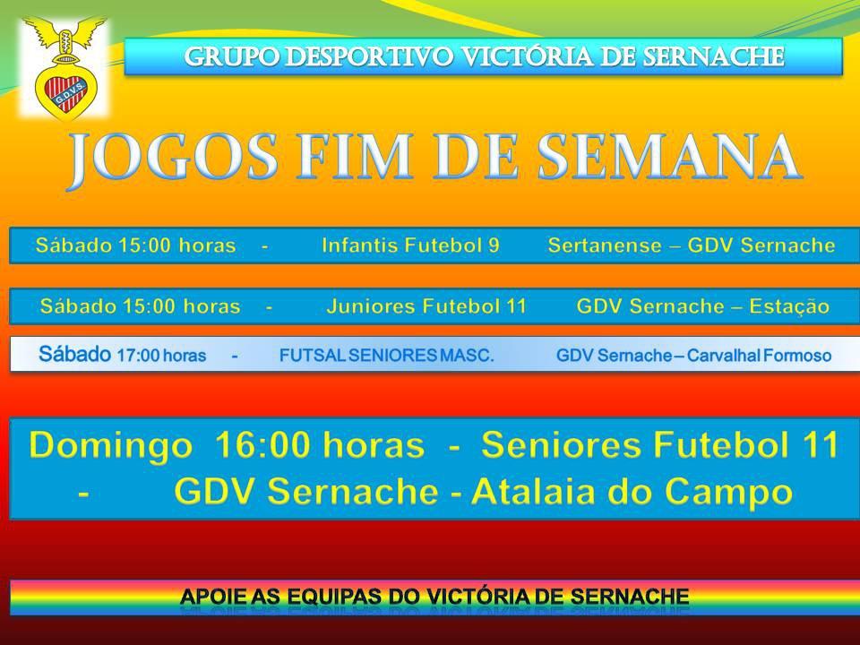 JOGOS FIM DE SEMANA 30 e 31