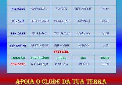 JOGOS FIM DE SEMANA 22 E 23
