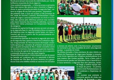 Guia Futebol Clube em destaque na Revista da AFA