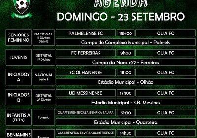 Agenda de jogos para domingo