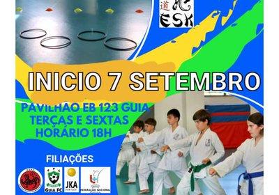 Escola de Shotokan Karete do Guia - Início da época