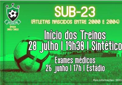 Sub-23 | Início dos Treinos