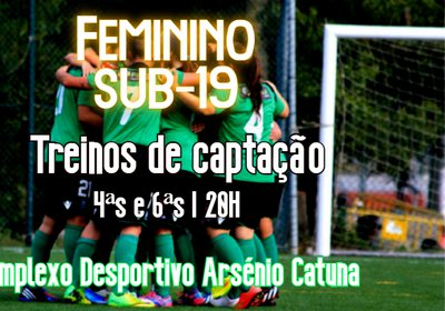 F. Feminino Sub-19   Treinos de captação